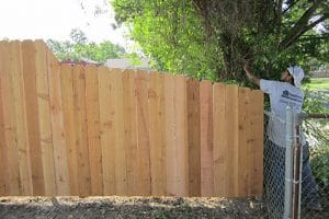 Wooden Fence New Orleans- Crescent Iron Works